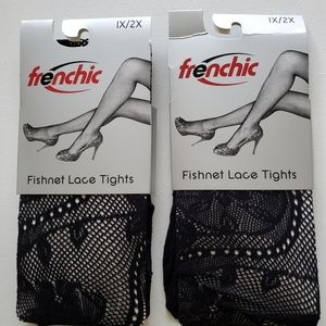 Floral fishnet tights 2 Pairs